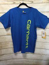 Carhartt Youth Boys Force Logo T-Shirt Victoria Blue Heather Size XL 18/20