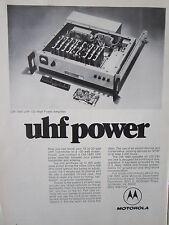 1/1973 PUB MOTOROLA ELECTRONICS CM1680 UHF 100 WATT POWER AMPLIFIER ORIGINAL AD
