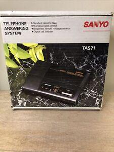NOS Sanyo Answering Machine TAS 71 New Old Stock
