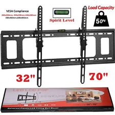 Slim TV Wall Bracket Mount Tilt For 32 40 42 50 55 60 65 70 Inch Plasma LCD LED