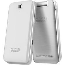 NEU ALCATEL ONETOUCH 20.12G (reines Weiß) entsperrtes Smartphone Flip Stil