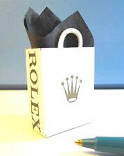Dollhouse Miniature Size SHOPPING BAG, Famous Watch Store  #SHB477