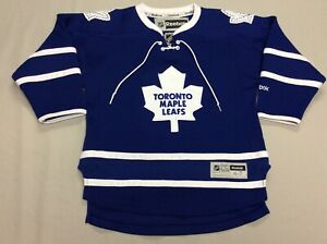 TORONTO MAPLE LEAFS REEBOK STITCHED ICE HOCKEY BLUE JERSEY TODDLERS SIZE 4T-7T