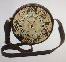 Disney Alice In Wonderland Clock Canteen Bag Purse Tote Cheshire White Rabbit