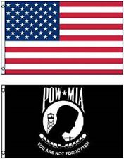 Wholesale Combo LOT 3' X 5' USA & Pow Mia You are Never Forgotten FLAG 3X5