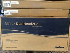 Matrox DualHead2Go Dual Digital Edition D2G-A2D-IF Brand New In Box Graphics