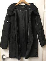 Mint Velvet UK 10 black 90% Down 10% Feather Puffer Coat Jacket Autumn Winter