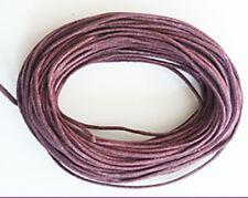 1mm Waxed Cotton Cord Plum 10 yard pack (30 feet)