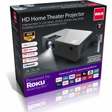 RCA Roku Smart Home Theater Projector 720p 16:9 w/ Roku Stick RPJ133