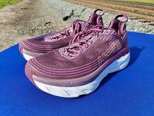Hoka One 1019270 ADGJ Purple Women's Bondi 6 Shoes  Running sz 10  WORN ONCE