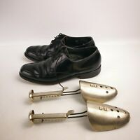 Vintage STUART HOLMES Presidents Black Dress Shoes Lace-Ups Men's 8 R w/ Stretch