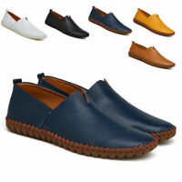Men's Slip On Boat Driving Slip On Loafers Leather Soft Moccasins Shoes