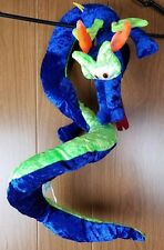 Classic Toy Co. Blue & Green Chinese Dragon Plush Stuffed Coiled Snake Body