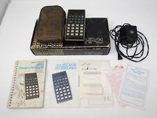 VINTAGE 1975 HP-21 CALCULATOR CHARGER CASE MANUAL PAMPHLETS RECEIPT ORIGINAL