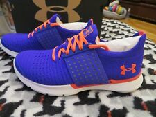NWT Girls Blue & Pink Under Armour Slingwrap Tennis Shoes, Size 6