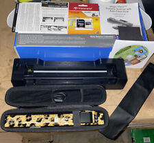 VuPoint Magic Wand Portable Scanner/Auto-Feed Dock. Black/leopard. Color Screen.