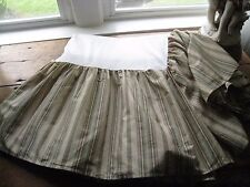 RALPH LAUREN STRIPED HERRINGBONE KING BED SKIRT W/ SPLIT CORNERS #33