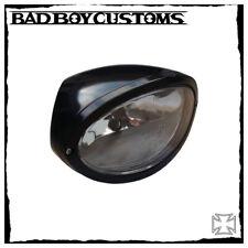 Scheinwerfer oval BBC 079 schwarz Harley Davidson Night Rod, V-Rod, Muscle