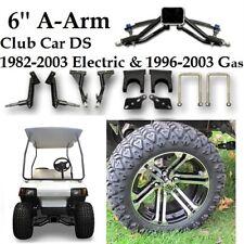 "Club Car DS 6"" A-Arm Lift Kit + 14"" Wheels and 23"" AT Carlisle Tires  golf cart"