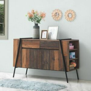 Abbey Sideboard 2 Doors 2 Drawers Storage Cabinet Cupboard Rustic Industrial