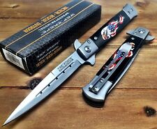 Tac-Force Spring Assisted Stiletto American Eagle, American Flag Pocket knife W/