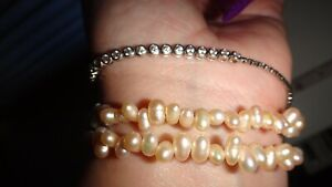 Honora Baroque Freshwater Pearl Coil Bracelet- Peach In Colour
