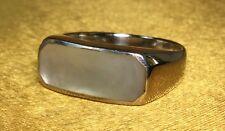 Vintage 925 Fine Sterling Silver/ Moonstone Gemstone Ladies Ring Size- 8 1/2