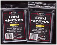 200 BCW Baseball Football Basketball Hockey Trading Card Plastic Sleeves New