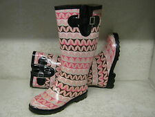 Ladies X1143 Pink Multi & X1142 Green Multi Patterned Wellies