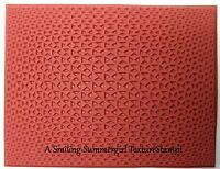 Triangle Pattern Unmounted RUBBER Texture Stamp Polymer PMC Clay Molding Mat