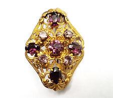USSR Russian Ancient Brooch Baroque style Filigree Pin Beautiful