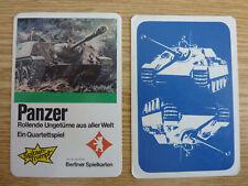 Cuarteto tanques Berliner naipes 631 6742 militares ejercito BW