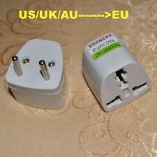 Travel adaptor plug converter AU BS UK US CANADA To EU  EUROPE Outlet  adapter