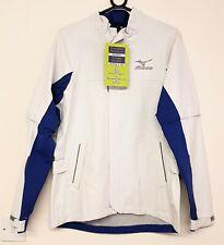 Mizuno Mens Impermalite Waterproof Jacket - White / Blue - Small RRP £99.99