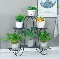 6 Tier Iron Flower Pot Stand Corner Plant Holder for Garden Indoor Outdoor Decor