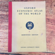 Oxford Economic Atlas of the World Shortened Edition by Oxford University Press