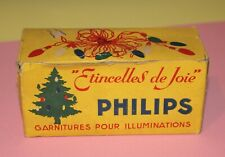 vintage  DECORATION NOEL  ETINCELLE DE JOIE PHILIPS guirlande ampoule pyramidale