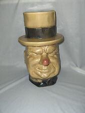 Vintage 1970's McCoy Pottery W.C. Fields Cookie Jar & Lid NICE