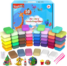 Qmay Modeling Clay Kit 50 Colors Air Dry Ultra Light Magic Clay, Soft  Stretchy