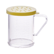 Winco Pdg-10Y, 10oz Dredge with Yellow Snap-on Lid, Pc