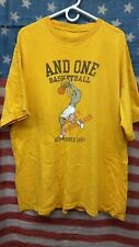 Vintage And 1 Basketball And One Tee Shirt T-Shirt Yellow Men's XL