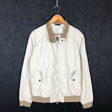 Barbour Steve Mcqueen Polyamide Zip Up Jacket Size M Cream / Beige
