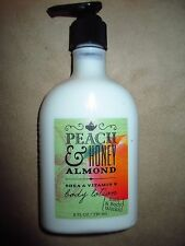 Bath & Body Works Peach & Honey Almond Shea & Vitamin Body Lotion 8 Oz- New