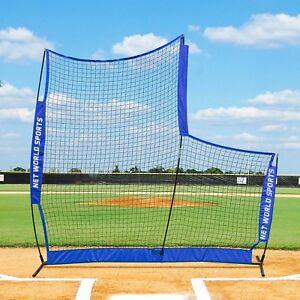 FORTRESS Baseball Cricket 7' x 7' Backstop L-Screen Net | Backstop Training Net