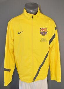 Barcelona Jacket Football Soccer Retro Mens Track Jacket Top Zip Size S 5-/5