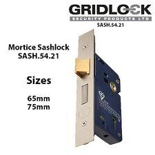 2 1/2 INCH 5 LEVER MORTICE LOCK 65MM WITH 2 KEYS SATIN SASHLOCK