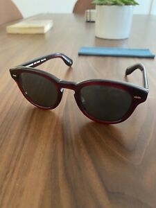 Barely Used Oliver Peoples Cary Grant Sunglasses (Bordeaux Bark)