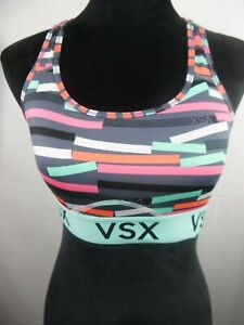 VSX Victoria's Secret Women Sports Bra Sz M Stretch Racerback Lined Wireless