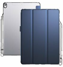 Poetic Lumos X Auto Wake/Sleep Pencil Holder Case for Apple iPad Pro 10.5 Blue