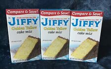 Jiffy Golden Yellow Cake Mix 9 oz (Lot of 3 9oz) New in box expires 4/22/21